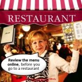 Review restaurant menus online