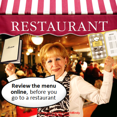 Tip # 1—Review the menu online ahead of time.