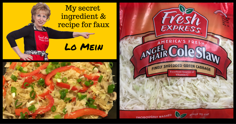 My secret ingredient and recipe for faux Lo Mein