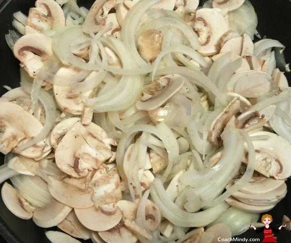mushroom and onions