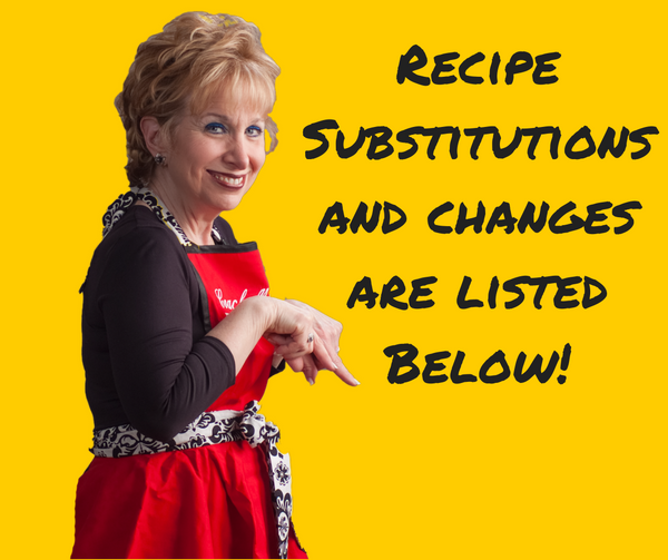Recipe substitutions and changes