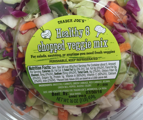 Trader Joe's healthy chopped veggie mix